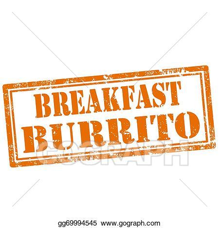 Vector stock breakfast stamp. Burrito clipart animated