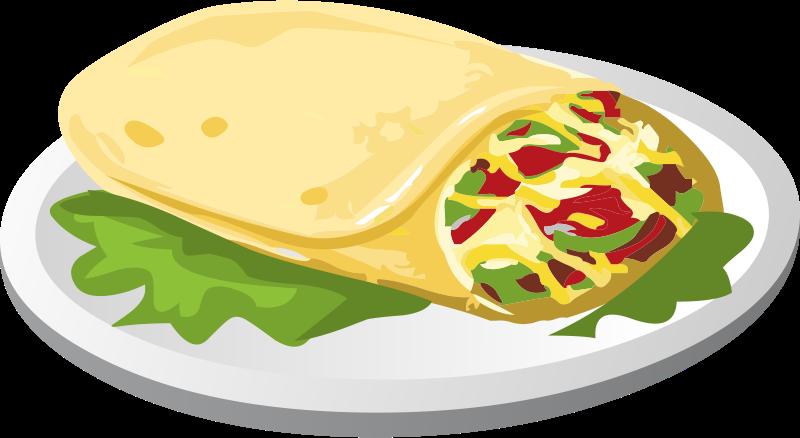 Mexican . Burrito clipart animated