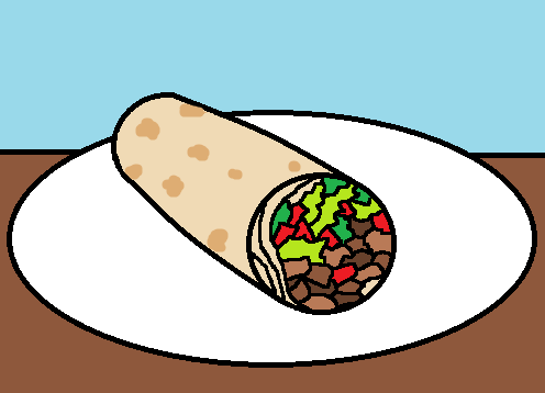 burrito clipart animated