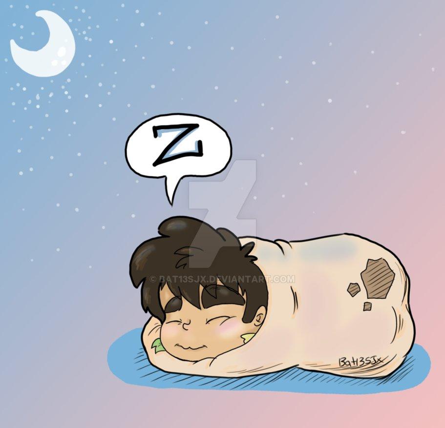 My sleepy by bat. Burrito clipart baby