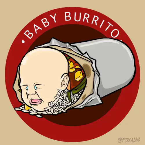 Burrito clipart baby. Tears gif discover share