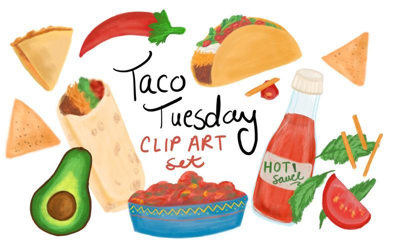 Taco tuesday clip art. Burrito clipart baby