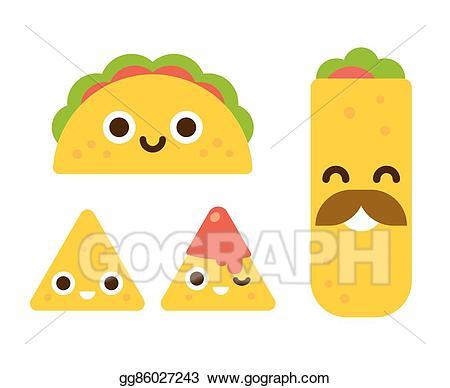 Vector art cute mexican. Burrito clipart baby