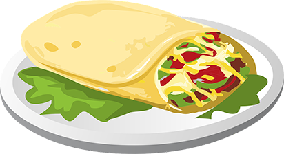 Phile theres something to. Burrito clipart bean cheese burrito
