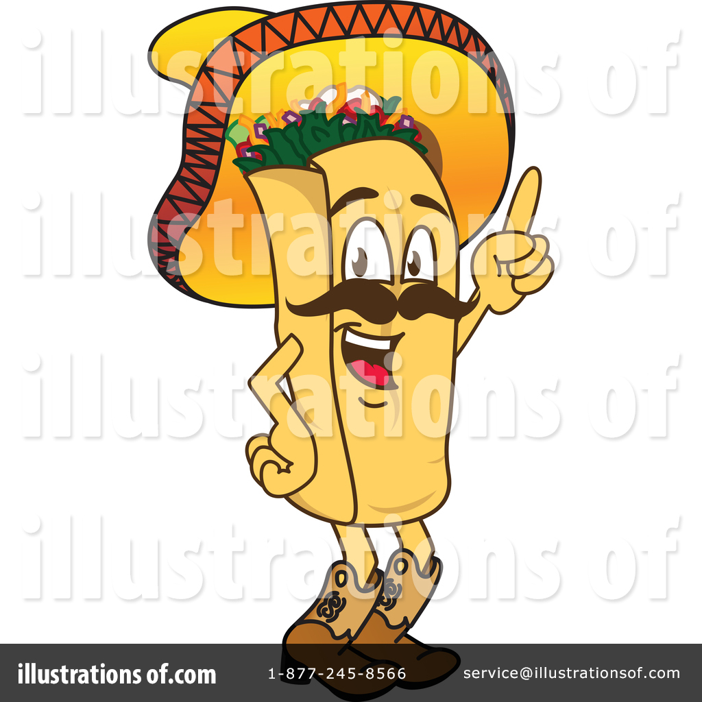 Burrito clipart burito. Illustration by toons biz