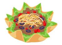 Burrito clipart burrito bowl. Free cultural food clip