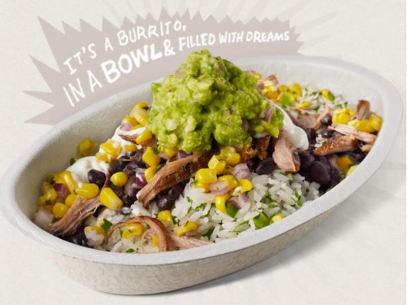 Burrito clipart burrito bowl. Chipotle opens on torrey