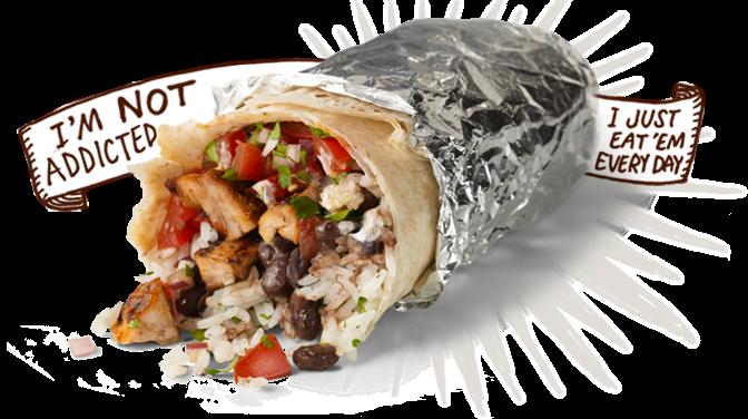 Burrito clipart burrito chipotle. Fast food news employees