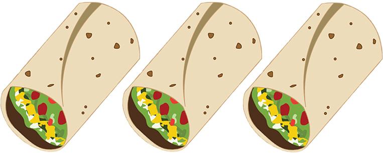 Battle of the burritos. Burrito clipart burrito chipotle