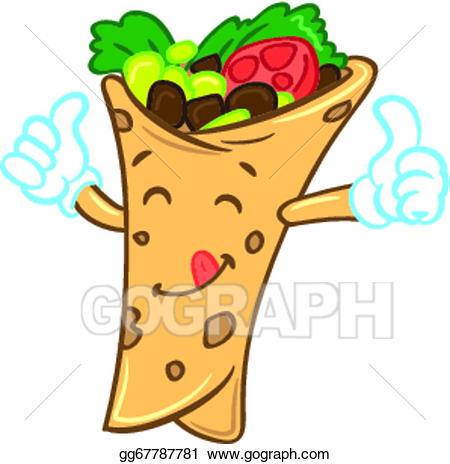 Vector illustration eps . Burrito clipart cartoon