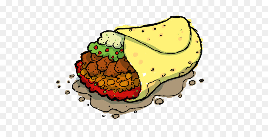 Burrito clipart cartoon. Taco mexican cuisine fast