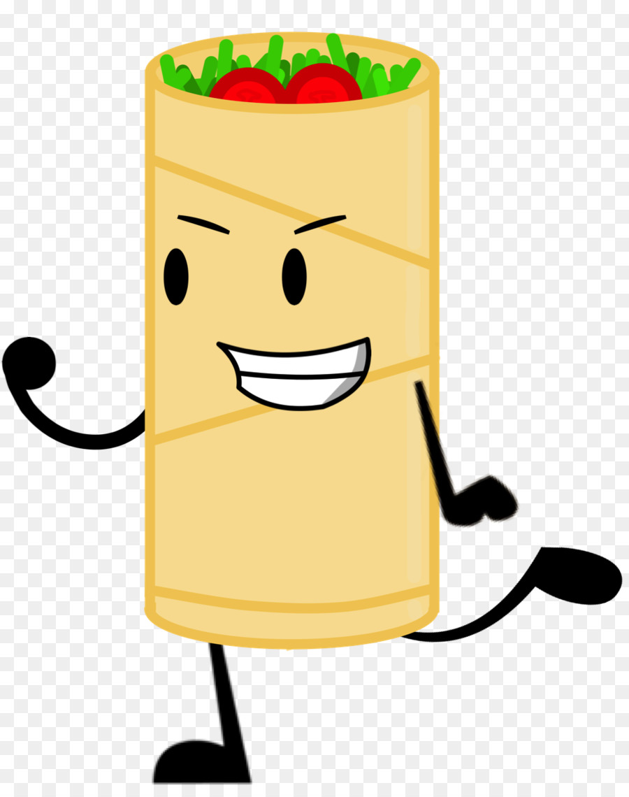 Taco breakfast yellow . Burrito clipart cartoon