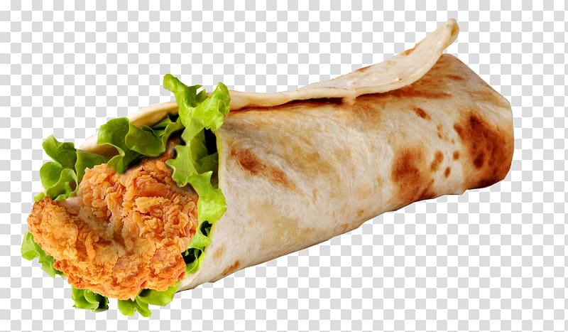 Wrap buffalo wing sandwich. Burrito clipart chicken roll
