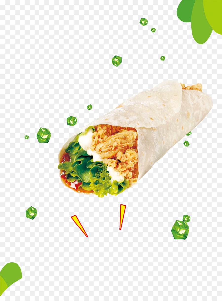 Kfc meat spring roll. Burrito clipart chicken wrap
