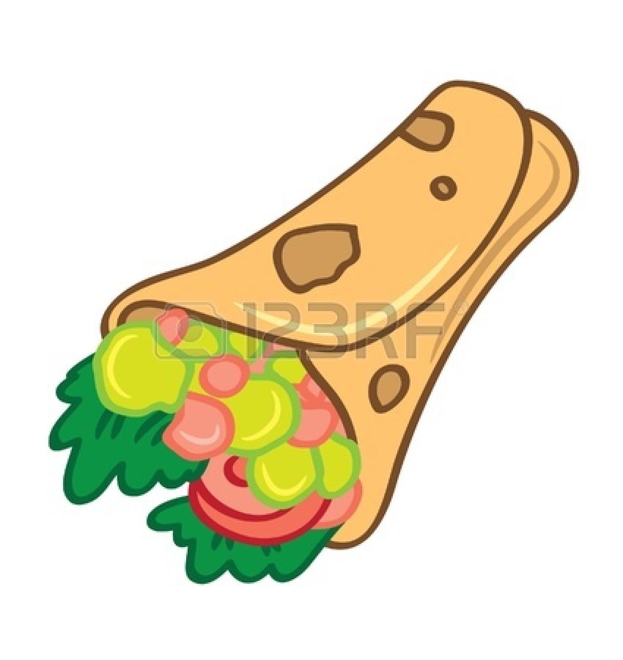 Burrito clipart chicken wrap. Sandwich drawing panda free