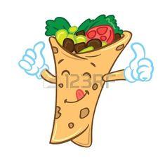 Burrito clipart cute. Stock illustrations cliparts and