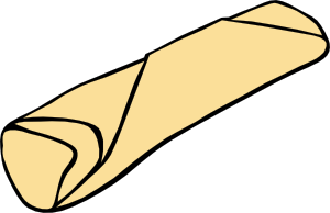 Clip art at clker. Burrito clipart cute