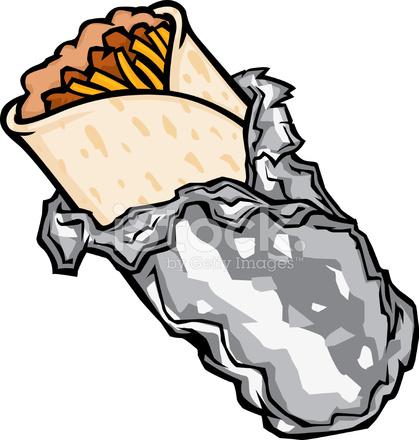 Burrito clipart cute. De dibujos animados stock