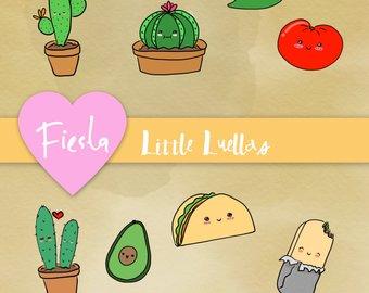 Burrito clipart cute. Drawing etsy fiesta taco