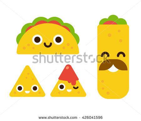 burrito clipart cute