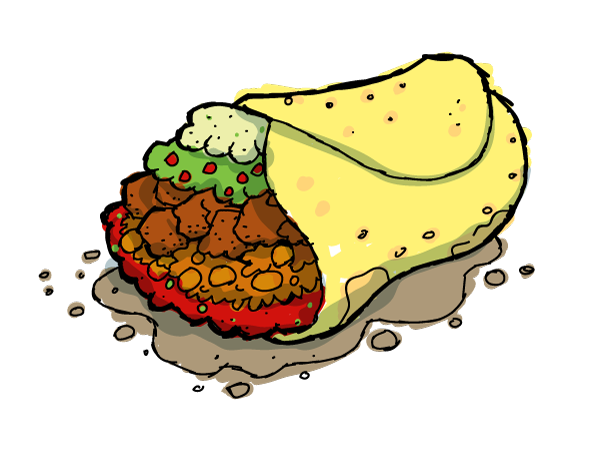 Burrito clipart cute. Lovely inspiration ideas cilpart