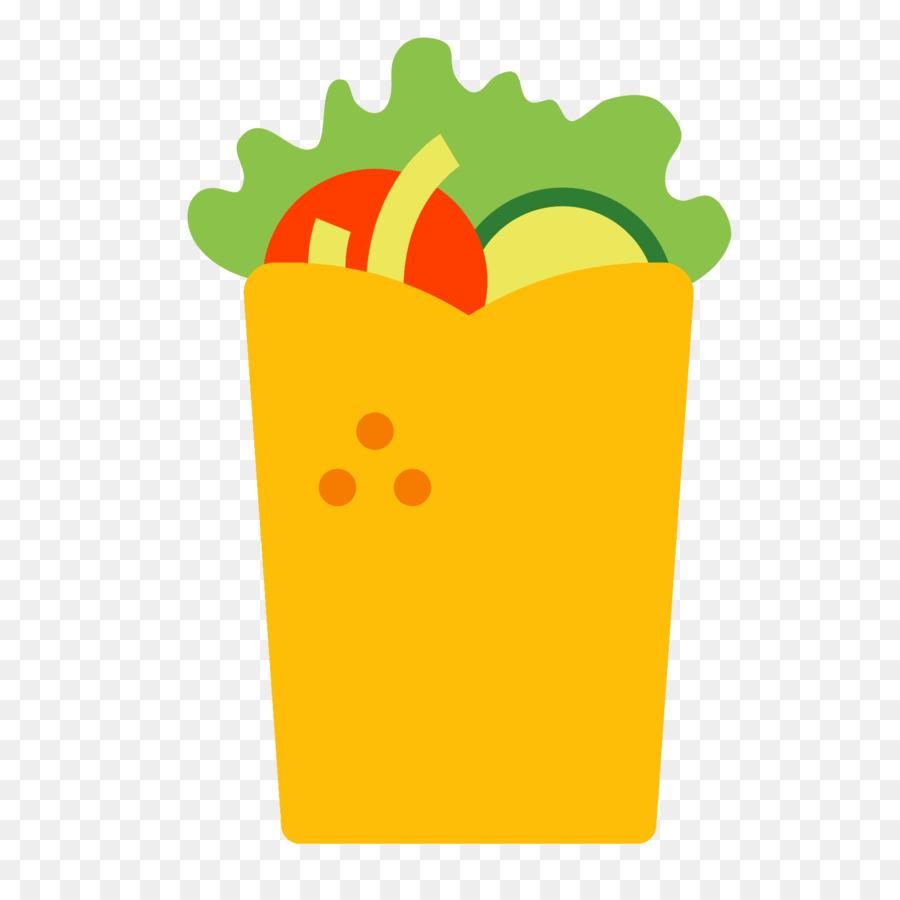 Wrap computer icons lavash. Burrito clipart doner kebab