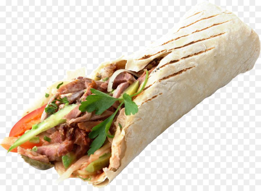 Burrito clipart doner kebab. Shawarma fast food hamburger