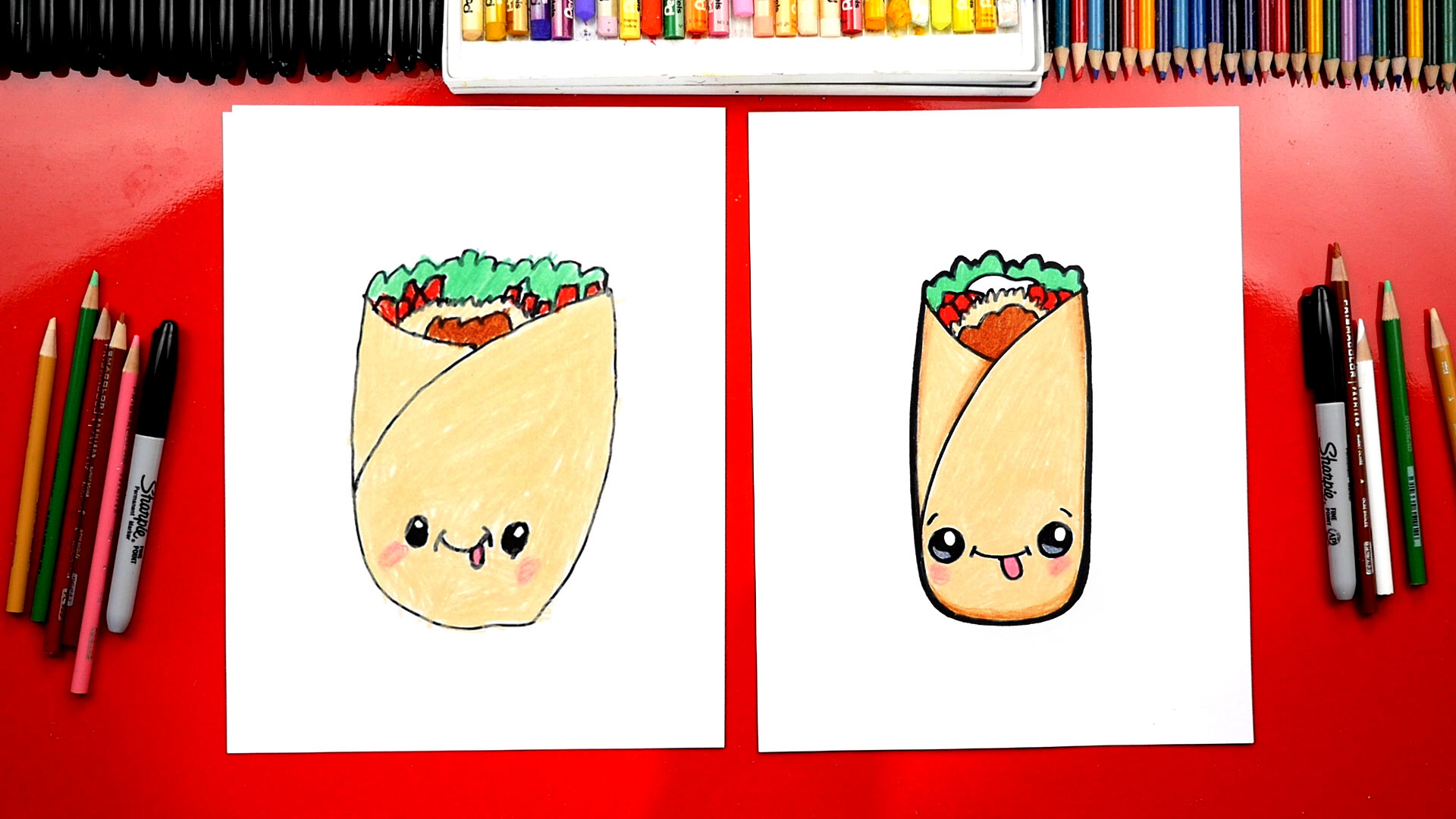 Burrito clipart drawing. How to draw a