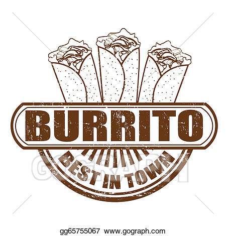 Burrito clipart drawing. Vector art stamp gg