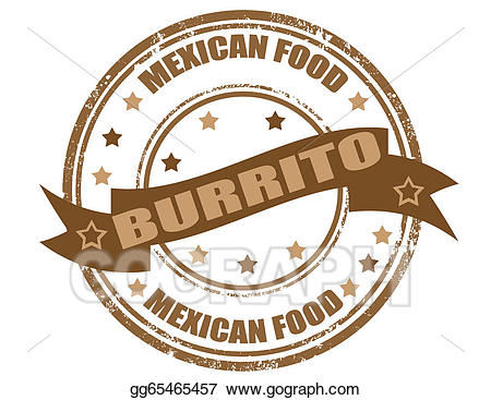 Vector art stamp gg. Burrito clipart drawing