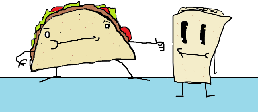Burrito clipart drawing. Taco man and by