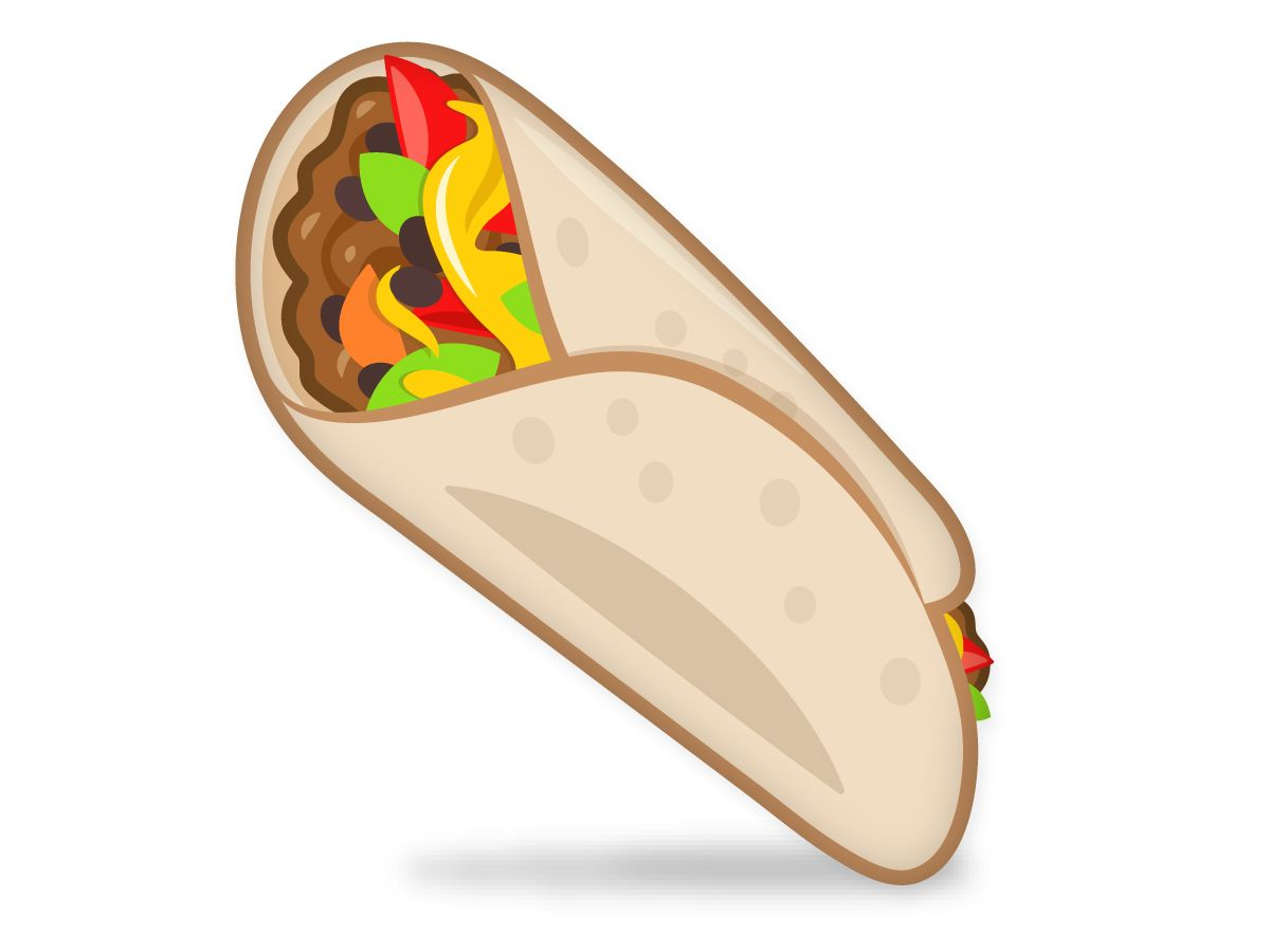 Burrito clipart emoji. The and others have