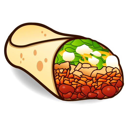 For facebook email sms. Burrito clipart emoji