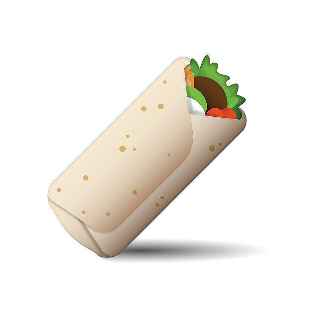 Health wellness free . Burrito clipart emoji