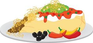 Burrito clipart food. Free image plate