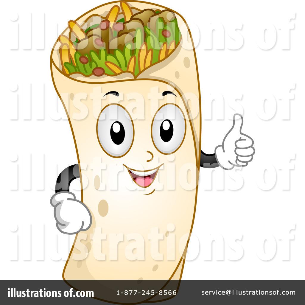 Illustration by bnp design. Burrito clipart food