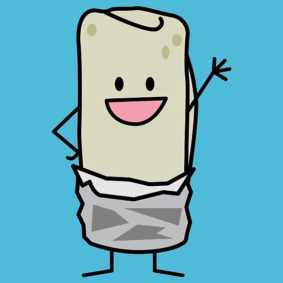 waving hello poster. Burrito clipart happy