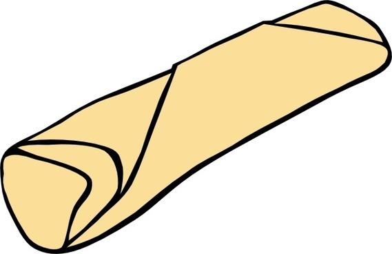 Burrito clipart happy. Free vector download for