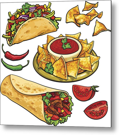 Burrito clipart small food. Set of traditional mexican