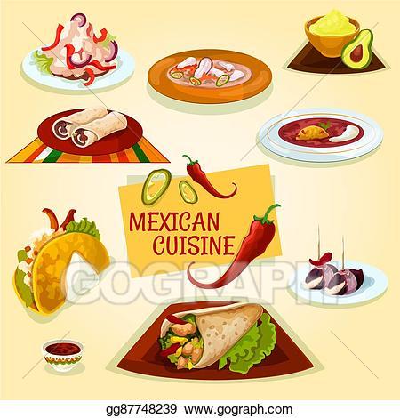 Clip art vector mexican. Burrito clipart tortilla