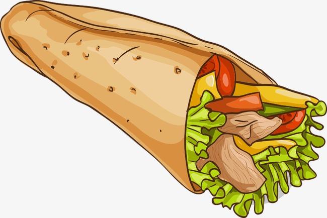 burrito clipart vector