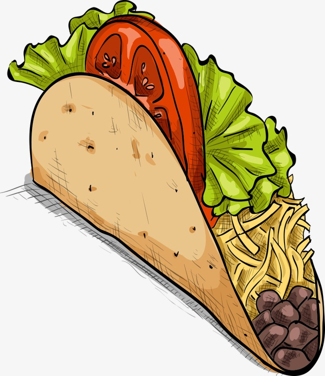 Delicious cartoon png and. Burrito clipart vector