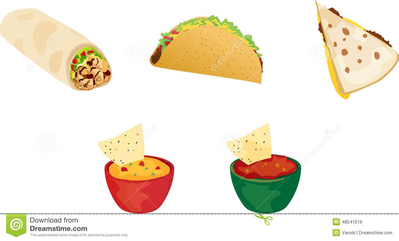 Burrito clipart vector. Taco quesadilla pencil and