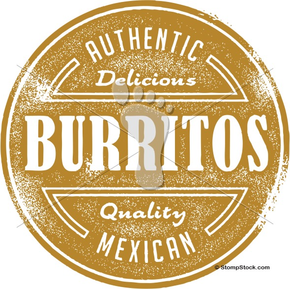 Burrito clipart vector. Authentic mexican stompstock royalty
