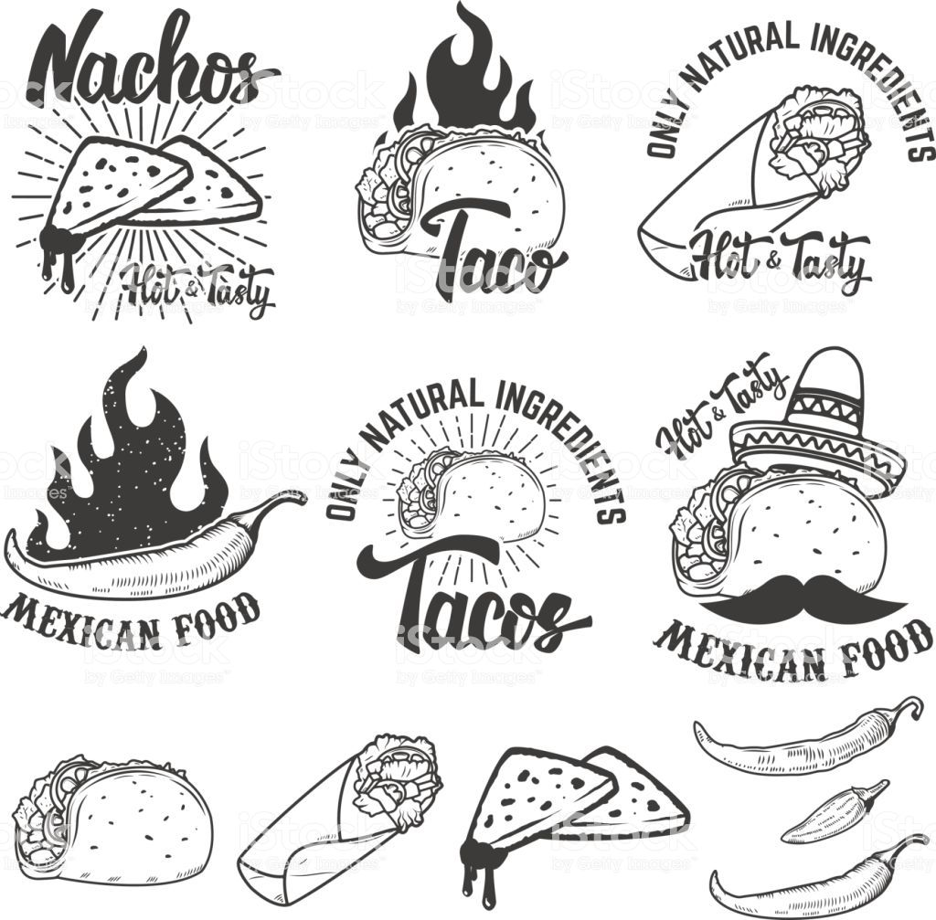 Burrito clipart vector. Mexican food nachos taco