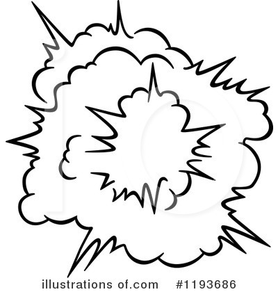 Burst clipart. Illustration by vector tradition