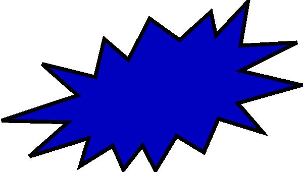 Blue clip art at. Burst clipart