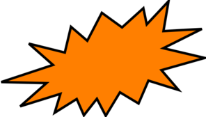 Burst clipart. Orange clip art at