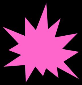 Pink star clip art. Burst clipart advertising