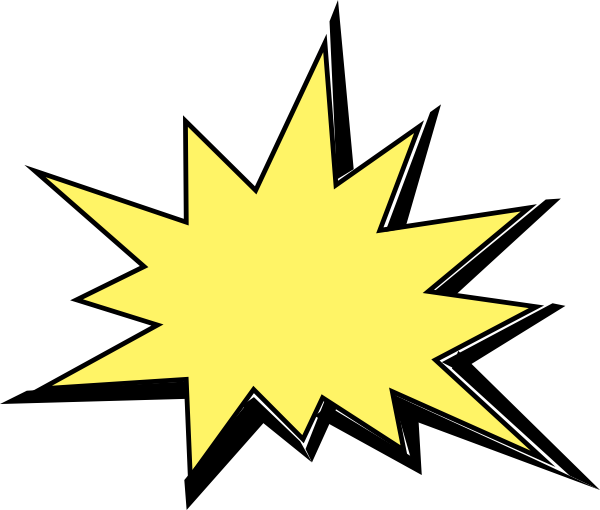 Burst clipart animated. Explosion clip art at